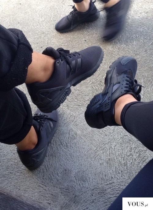 adidas zx flux damskie na nogach czarne