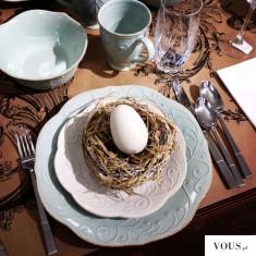 Wielkanocny wystrój niebieski stołu – Wielkanoc 2016