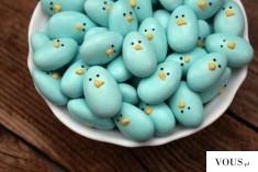 niebieskie kurczaki wielkanocne