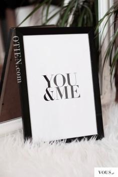 Obraz na prezent You&Me. Idealny prezent na parapetówkę.