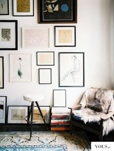 Jak estetycznie rozmieścić dużo obrazów na jednej ścianie?