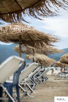 Wietrzna pogoda na plaży