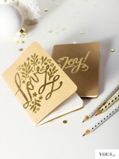złote notatniki – notesy