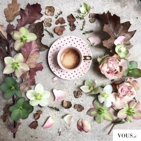 przepięknie podana kawa