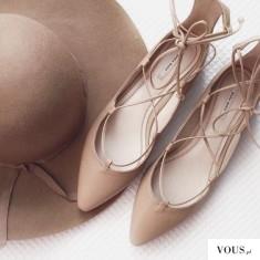 Gdzie kupić wiązane sznurowane baleriny? ZARA BASIC