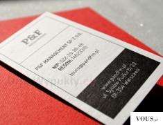 Sitodruk na grubym kartonie – Ekskluzywne Wizytówki