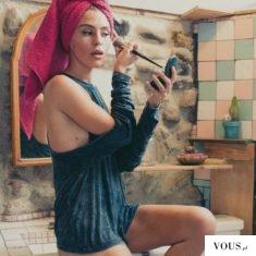 poranna toaleta, makeup, włosy
