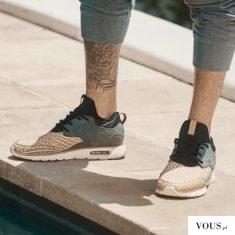 męskie nike airmax, tatuaż na łydce