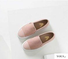 różowe sneakersy slip on