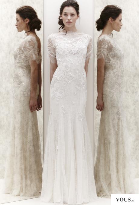Hanna Juzoń sesja sukień ślubnych dla projektantki Jenny Packham, Modelka w sukni ślubnej