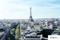 panorama Paryża, wieża Eiffel'a