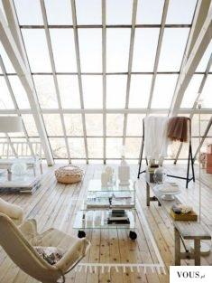 mieszkanie typu studio, na poddaszu, ogromny przeszklony dach