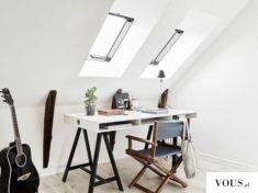 białe poddasze, minimalistyczne wyposażenie wnętrza