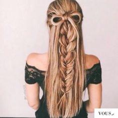 śliczna fryzura