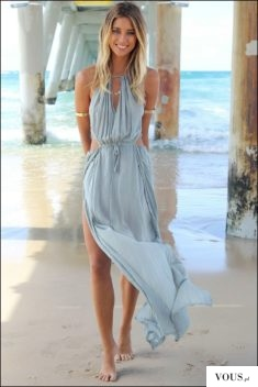 Letnia zwiewna sukienka maxi