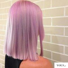 Różowe włosyy