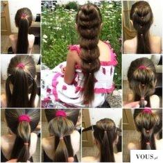 łatwa i efektowna fryzura krok po kroku :)