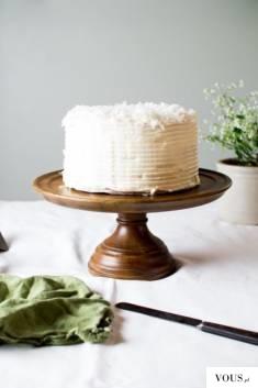 piękny kokosowy tort