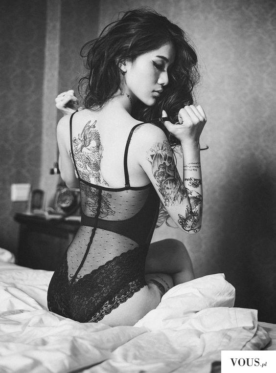 azjatka z tatuażami, tatuaże chińskie