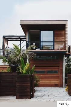 kompaktowy dom, wykończony drewnem