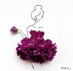 sukienka z kwiatów