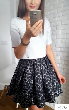 Elegancki komplet czarno – szary