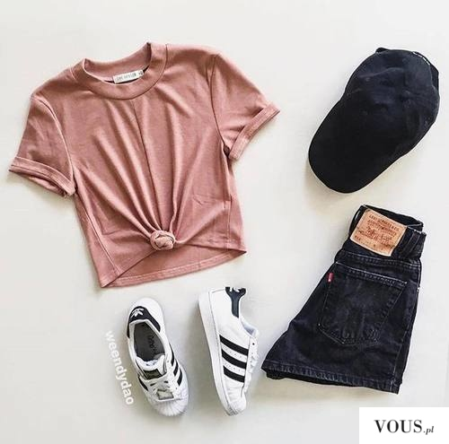 różowy zestaw stylizacja