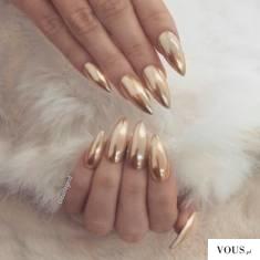 złote paznokcie, syrenka
