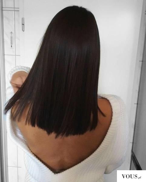 piękne zadbane czarne krótkie włosy