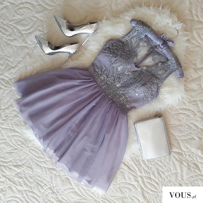 25573d0987 Szara tiulowa sukienka Honey. Idealna na wesele