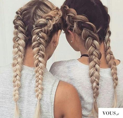 Jak zrobić? Dwa dobierane odwrotne warkocze / How do Two selected reverse braids tutorial / Wie  ...