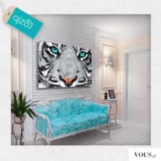 Obraz – Tygrys z turkusowymi oczami