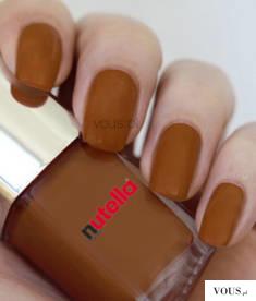 czekoladowy lakier do paznokci Nutella / polish nail