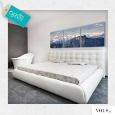 Piękny górski krajobraz w formie obrazu na ścianę do sypialni ale również świetnie wpasuje się w ...