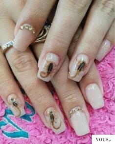 Scorpion manicure – skorpiony na paznokciach – Mexican women glue SCORPIONS to their ...