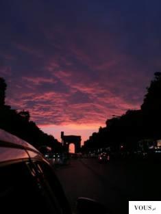 różowy zachód słońca