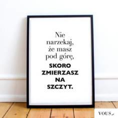 Motywacyjny plakat na prezent –  sklep OTIEN