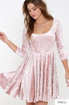 christmas dress – sukienka, sukienka różowa | sukienka welurowa