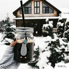 ciepła kawa w zimie