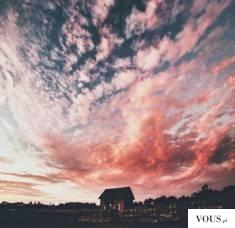 rózowe niebo