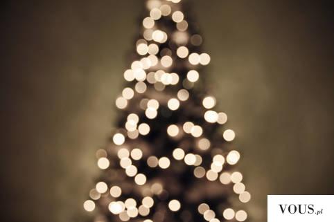 światełka na choince świątecznej