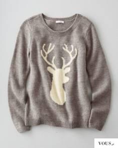 sweter w renifera