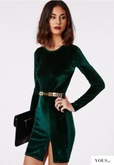 Sukienka butelkowa zieleń | christmas dress – sukienka, sukienka świąteczna | sukienka welurowa