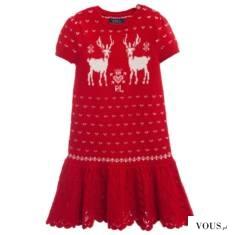 Sukienka w renifery | christmas dress – sukienka, sukienka świąteczna | sukienka czerwona