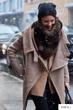 karmelowo brązowa stylizacja zimowa