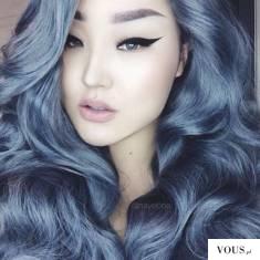 niebieskie włosy,silver hair,blue hair,silver blue hair,