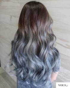 srebrno brazowo niebieskie włosy,