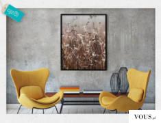 Plakat w ramie, którego motyw stanowi polana. Wyrazista, beżowa kolorystyka dekoracji doda delik ...