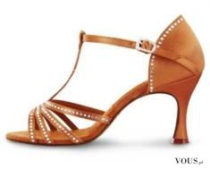 buty z kryształkami do tańca, cyrkonie