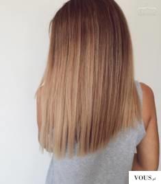 zadbane blond półdługie włosy